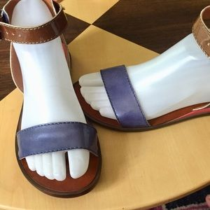 7 for all mankind sandals Sz 6 Blue brown orange